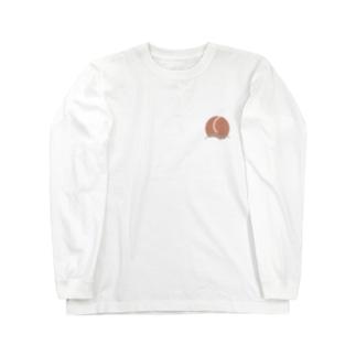 みずみずしいモモ Long sleeve T-shirts