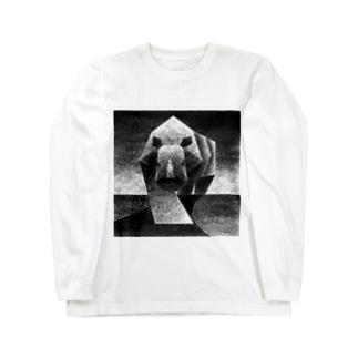 Monochrome rhino Long sleeve T-shirts
