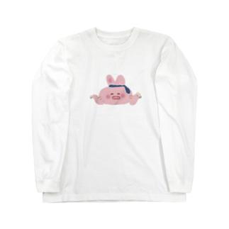 酔っ払いうさちゃん Long sleeve T-shirts