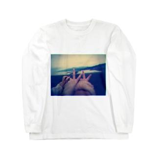 ピースサイン Long sleeve T-shirts