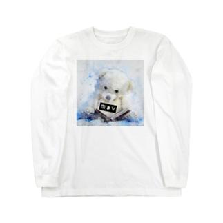 MDV ロゴべア Long sleeve T-shirts