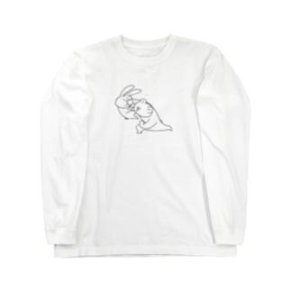 煩悩の調子に乗りすぎたうさき Long sleeve T-shirts