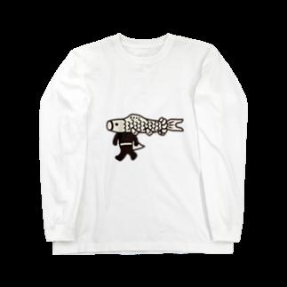 こいのぼりマン@加須市の【期間限定】ジャンボこいのぼりマン Long sleeve T-shirts