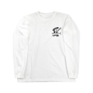 落ちない鯖(黒) Long sleeve T-shirts