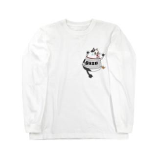 ビクットキャット【アイガス】 Long sleeve T-shirts