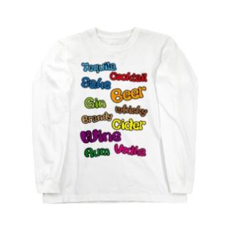お酒の種類 Long sleeve T-shirts