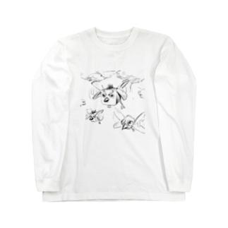 ハコドリ Long sleeve T-shirts
