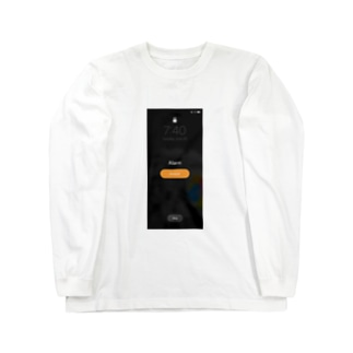 朝気づいたらスクショしがちな画面 Long sleeve T-shirts