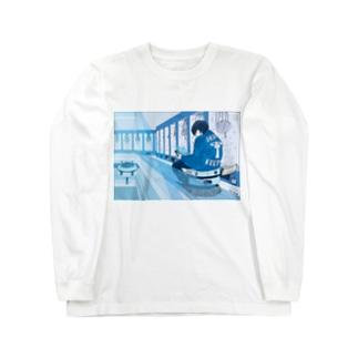 おさぼり清掃員くん Long sleeve T-shirts
