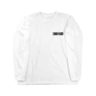 bar code #428  black Long sleeve T-shirts