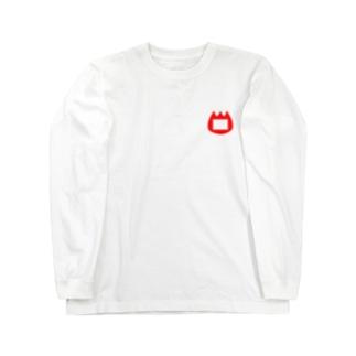 紫外線防止の豆腐オンファイヤー Long sleeve T-shirts