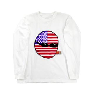 USAあめりかボール(アメリカボール)  Long sleeve T-shirts