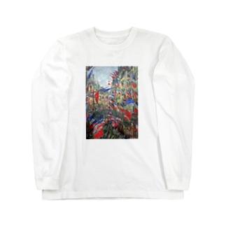 クロード・モネ / The Rue Montargueil with Flags Long sleeve T-shirts