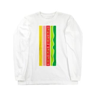 ハムサンド Long sleeve T-shirts