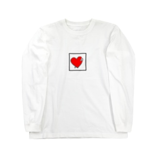 ハートに刺さる Long sleeve T-shirts