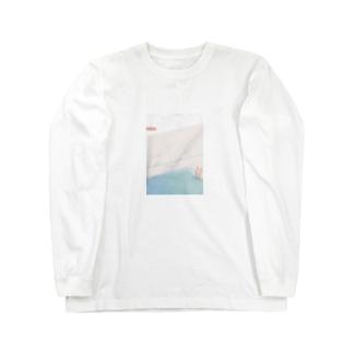 雨の日のプール Long sleeve T-shirts