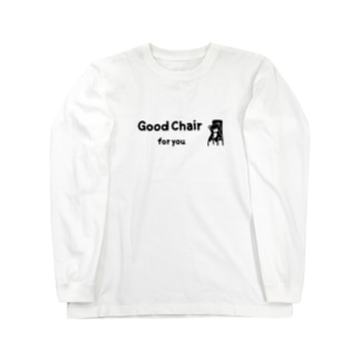 Good chair for you (ライン) Long sleeve T-shirts