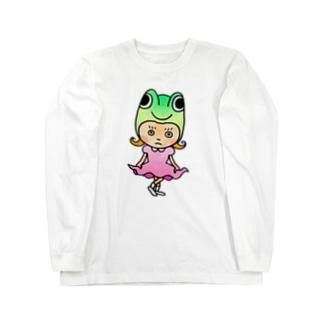 ゲコちゃん Long sleeve T-shirts
