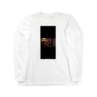 黒い犬男 Long sleeve T-shirts