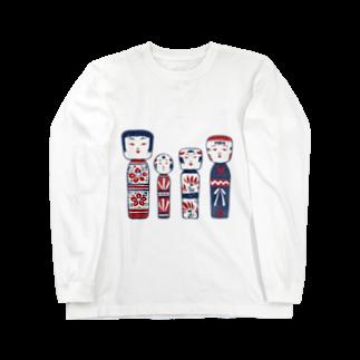 akaneyabushitaの【日本レトロ#06】こけし Long sleeve T-shirts