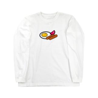 目玉焼き with ソーセージトマト Long sleeve T-shirts