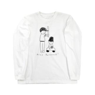 野球中 Long sleeve T-shirts