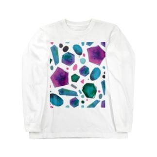 colour crystal Long sleeve T-shirts