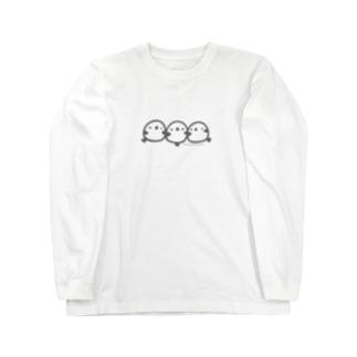 なめらかシマエナガ Long sleeve T-shirts