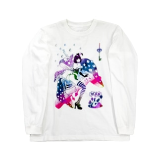 MAD ALICE 電池式キノコの国のアリス バニー型 Long sleeve T-shirts