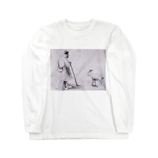 ゴッホ / 1862 /The Goat Herd / Vincent van Gogh Long sleeve T-shirts