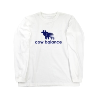 cow balance(blue) Long sleeve T-shirts
