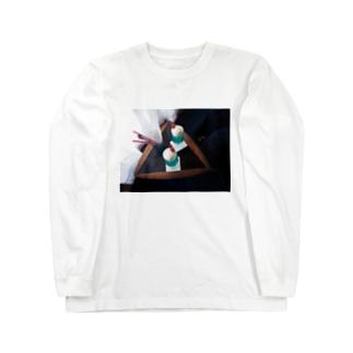 青いクリームソーダ Long sleeve T-shirts