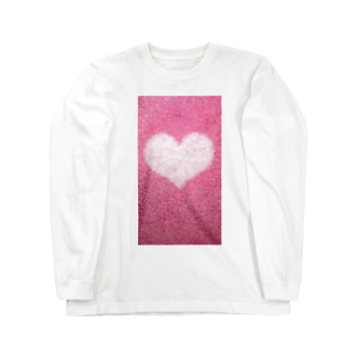 Teatime ティータイムのハート Heart ピンク pink Long sleeve T-shirts