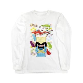 雑巾がけと足跡(リメイク) Long sleeve T-shirts
