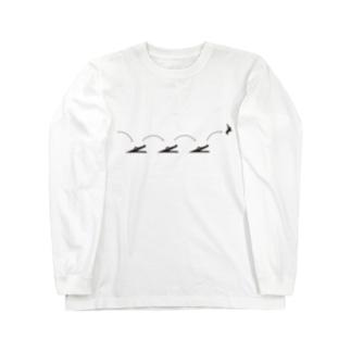 ピクトロゴ・因幡の白兎(白) Long sleeve T-shirts