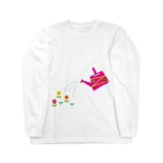 じょうろとお花 Long sleeve T-shirts