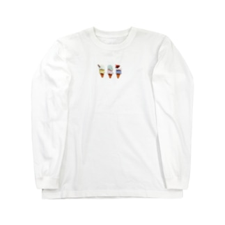 ダブルアイスクリーム Long sleeve T-shirts