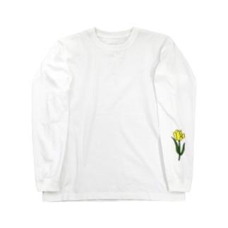 きいろチューリップ Long sleeve T-shirts
