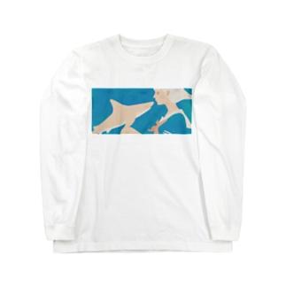 彼女はサメが好き eye Trimming Long sleeve T-shirts