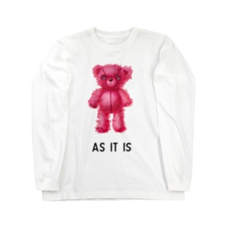 【As it is】(桃くま) Long sleeve T-shirts
