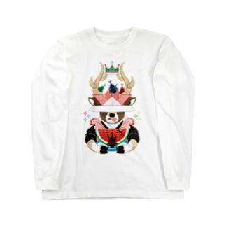 カブトムシと西瓜(リメイク) Long sleeve T-shirts