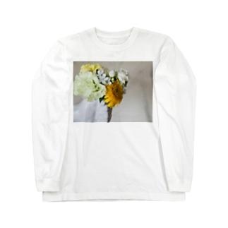 片手に花束 Long sleeve T-shirts
