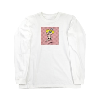 おぴんくウサギ Long sleeve T-shirts