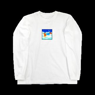 黒ごませさみん。の広い海 Long sleeve T-shirts