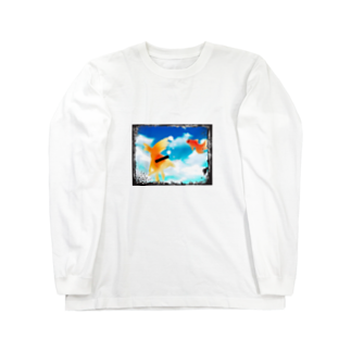 黒ごませさみん。の広い水槽 Long sleeve T-shirts