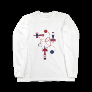 akaneyabushitaの【日本レトロ#09】けん玉 Long sleeve T-shirts
