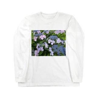 ハイドランジア模様 Long sleeve T-shirts