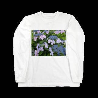 Dreamscapeのハイドランジア模様 Long sleeve T-shirts