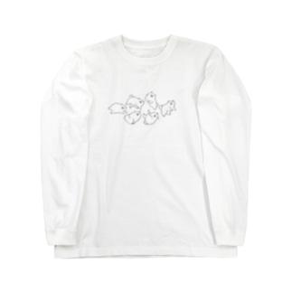 ポメがいっぱい Long sleeve T-shirts