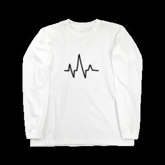 meloaの心電図 Long sleeve T-shirts